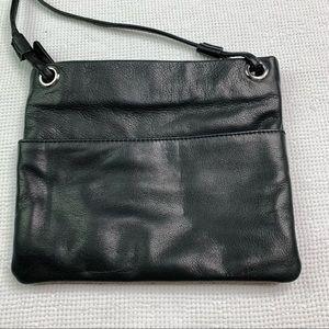 Margot Black Leather Crossbody Bag C47
